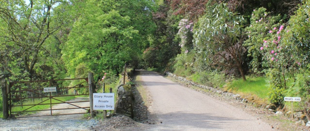 12 private road to Ellary House, Ruth's coastal walk, Argyll, Scotland