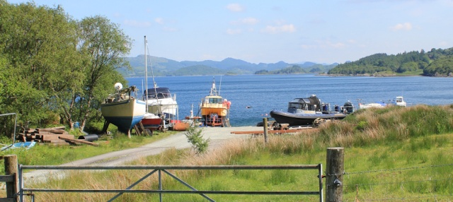 12 slipway and boats, Ruth's coastal walk, Knapdale, Scotland