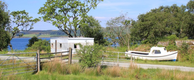 13 caravans and boats, Ruth's coastal walk, Knapdale, Scotland
