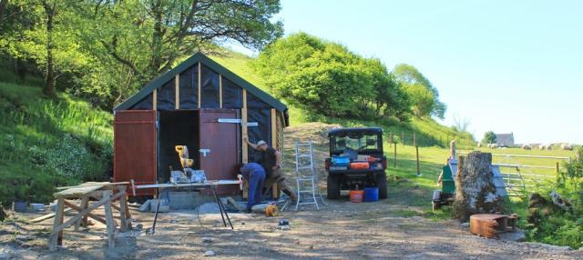 14 shed construction, Ruth's coastal walk, Knapdale, Scotland