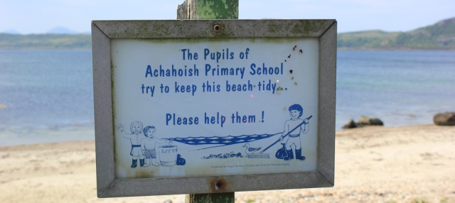 16 keep this beach tidy, Ruth's coastal walk, Argyll, Scotland