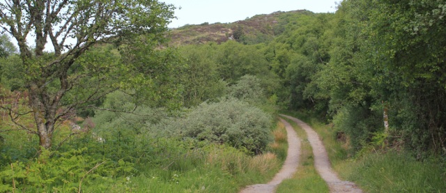 17 track to Crinan, Ruth hiking the coast of Scotland, Argyll
