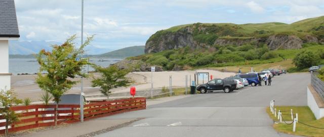 18 Ganavan Bay, Oban, Ruth walking the coast of Scotland