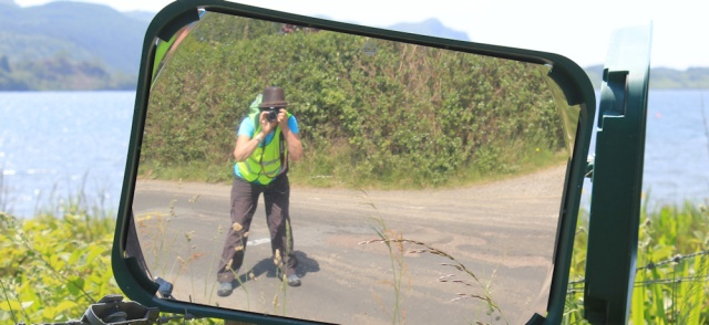 18 self-portrait on road to Ardfern, Ruth Livingstone in Scotland