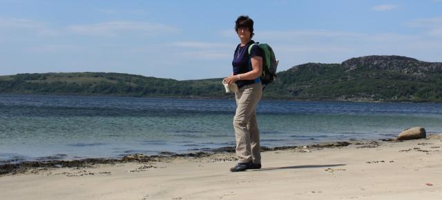 18 self-portrait, Ormsary, Ruth's coastal walk, Argyll, Scotland