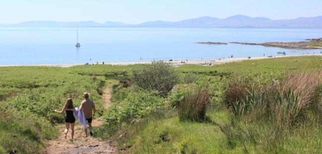 19 path to Kilmory beach, Ruth's coastal walk, Argyll, Scotland