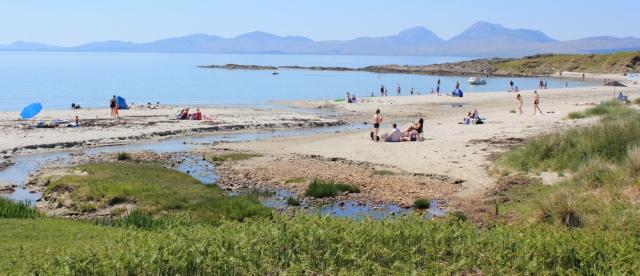 20 crowded beach, Ruth's coastal walk, Argyll, Scotland