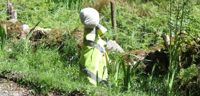 20 scarecrow by the road, Ruth's coastal walk, Knapdale, Scotland