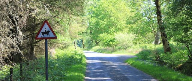 21 horseriding sign, Ruth's coastal walk, Knapdale, Scotland