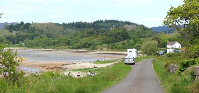 24 beach at top of Loch Caolisport, Ruth's coastal walk, Argyll, Scotland