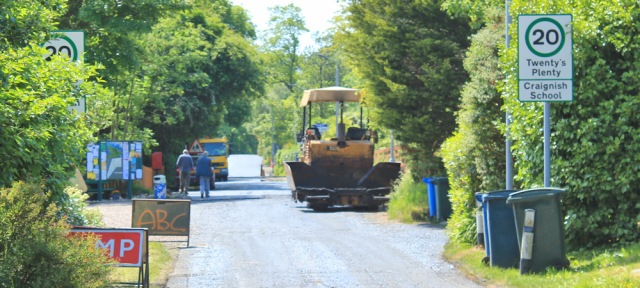 24 roadworks, Craignish, Ardfern, Ruth's coastal walk