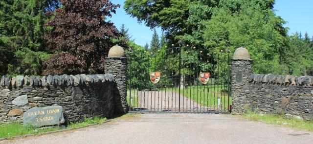 25 entrance to Eilean Loain Estate, Ruth's coastal walk, Knapdale, Scotland