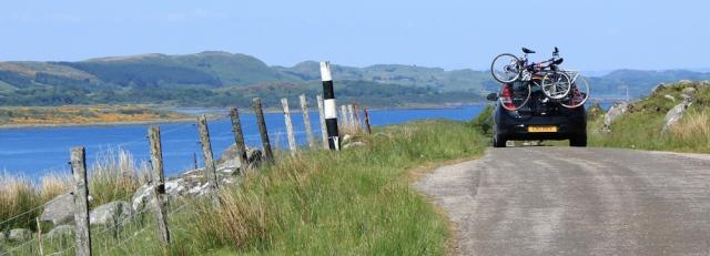 25 holiday traffic, Ruth's coastal walk, Argyll, Scotland
