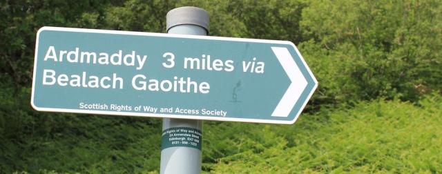 27 core path sign, Ruth's coastal walk around Scotland