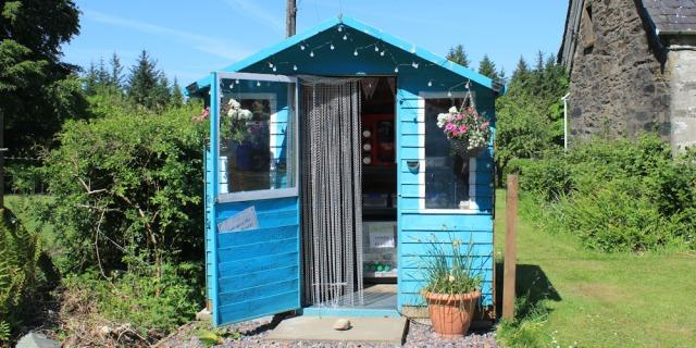 27 refreshment shed, Ashfield, Ruth's coastal walk, Knapdale, Scotland