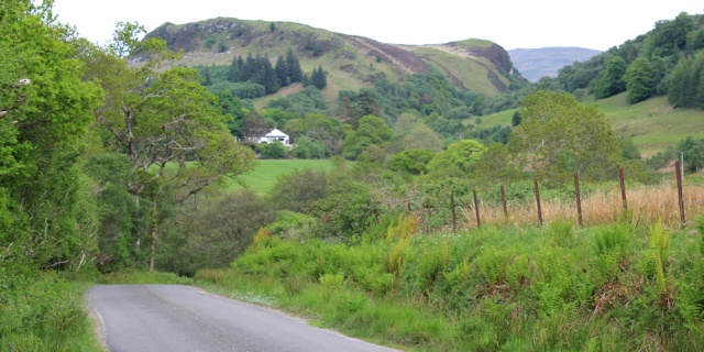 28 Ruth hiking the road to Achahoish, Argyll, Scotland