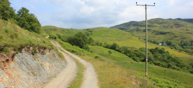 28 track up Dun Crutagain, Ruth's coastal walk around Scotland