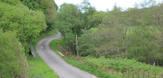 29 Baranlongart Burn, Ruth hiking through Argyll