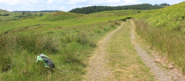 29 rucksack on the track, Ruth's coast walk around Scotland