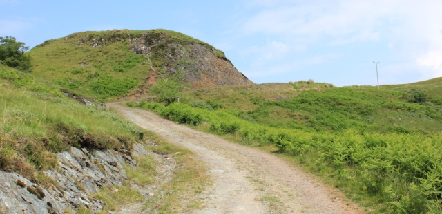 30 road going up, Ruth's coastal walk around Scotland