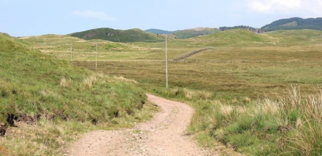 31 road going down, Ruth's coastal walk around Scotland