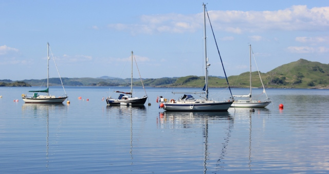 31 ships on Crinan Loch, Ruth's coastal walk, Argyll
