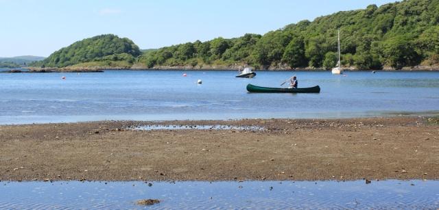 33 man in kayak, Achnamara, Ruth's coastal walk, Knapdale, Scotland