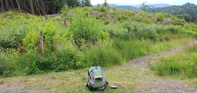 37 lots of paths, Black Mount, Ruth Livingstone hiking to Oban