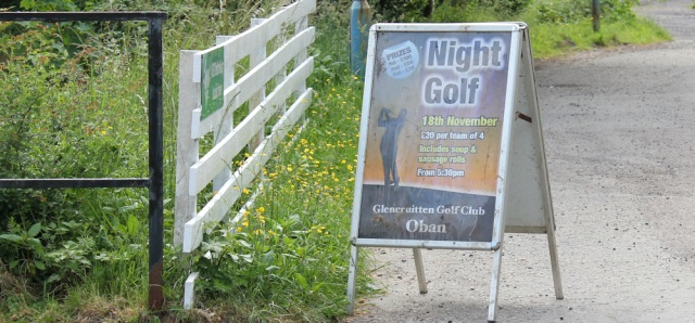 43 Night golf at Glencruitten Golf Course, Ruth's coastal walk, Oban
