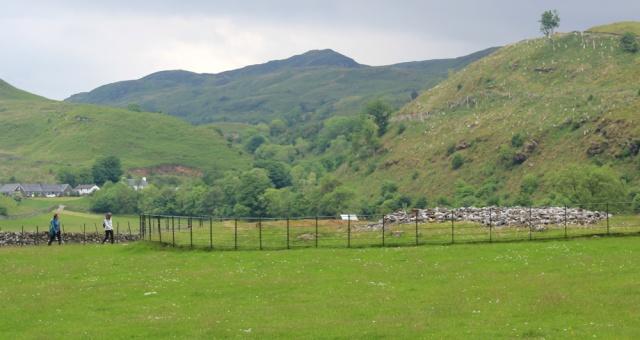 45 cairns, near Kilmartin, Ruth hiking in Argyll, Scotland