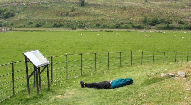 46 lying person, Ruth's coastal walk, Scotland