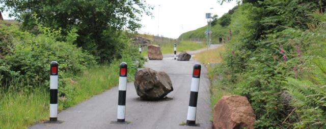 51 closed road, Druim Mor, Ruth's coast walk to Oban