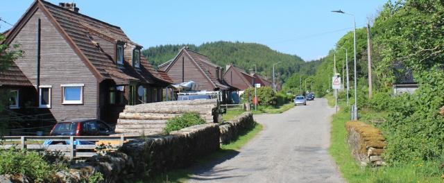 53 bus stop at Achnamara, Ruth walking the coast of Argyll, Scotland