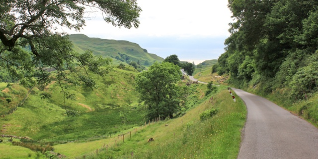 54 road to Roseview campsite, Ruth's coast walk around Scotland, Oban