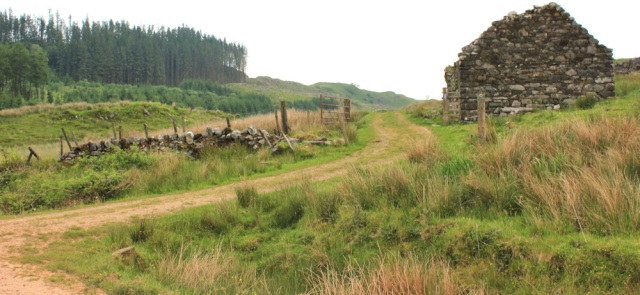 54 ruined cottages, Kilmartin, Ruth's coastal walk, Scotland