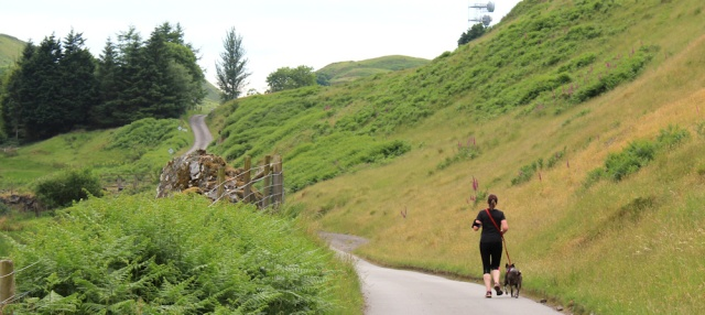 55 jogger on road to Roseview, Oban, Ruth Livingstone