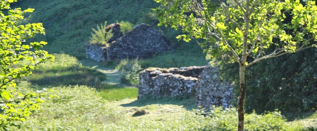 63 ruined buildings, Kilmory Oib, Ruth walking the coast of Argyll, Scotland