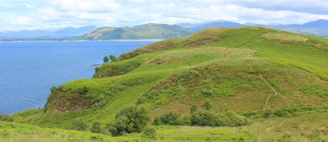 53 over Ganavan Hill, Ruth's coastal walk, Scotland