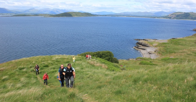 54 walking party, Dunbeg, Ruth's coastal walk, Scotland