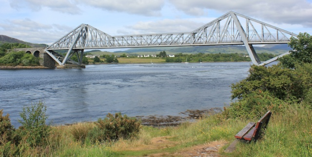 74 under Connel Bridge, Ruth Livingstone hiking the coast of Scotland