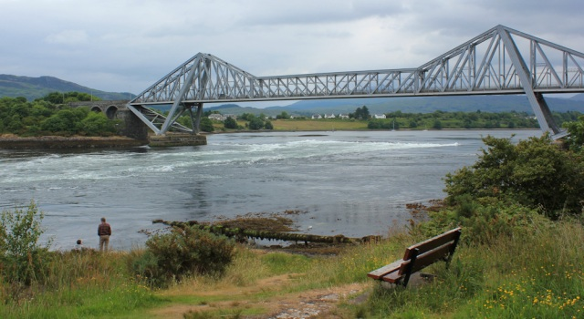 01 Connel Bridge from the viwing point, Ruth's coastal walk, Scotland
