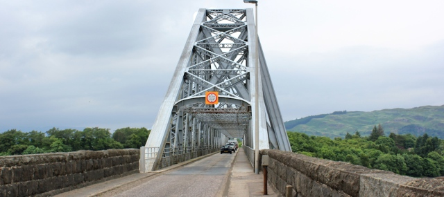 02 Connel Bridge and the A828. Ruth Livingstone hiking the Scottish coast