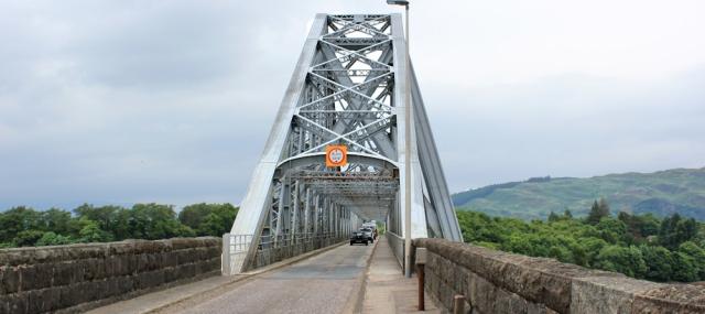 02 Connel Bridge and the A828. Ruth Livingstone hiking the Scottish coast
