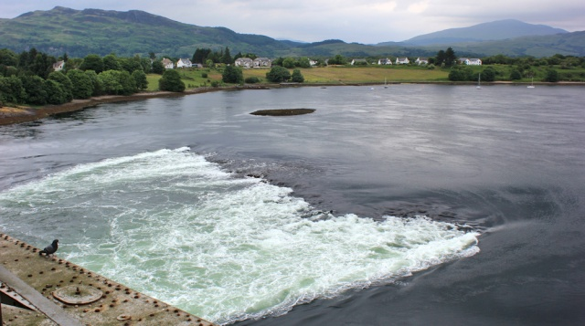 03 Falls of Lora, seen from the top of the bridge, Ruth Livingstone in Scotland
