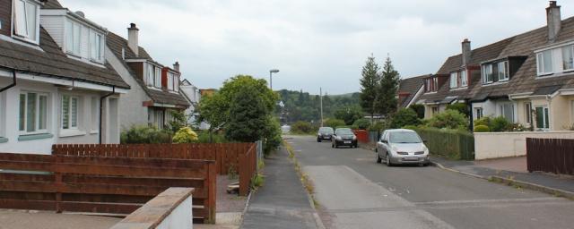 06 North Connel residential street, Ruth's coastal walk around Scotland