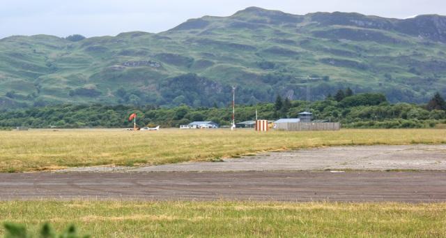 10 Oban Airport, Ruth hiking the coast of Scotland