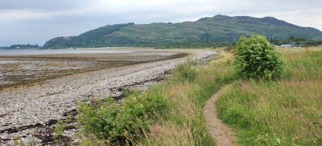 11 Beach beside Oban Airport, Ruth Livingstone hiking in Scotland