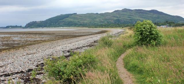11 Beach beside Oban Airport, Ruth Livingstone hiking in Scotland