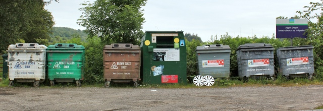 12 recycling centre, Appin, Ruth walking the Scottish Coast