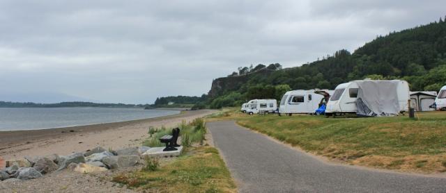 13 caravan park, North Ledaig, Ruth's coastal walk, Benderloch